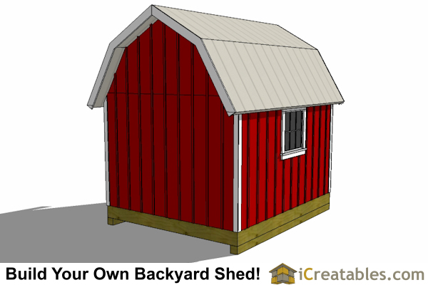 10x14 gambrel shed plan rear