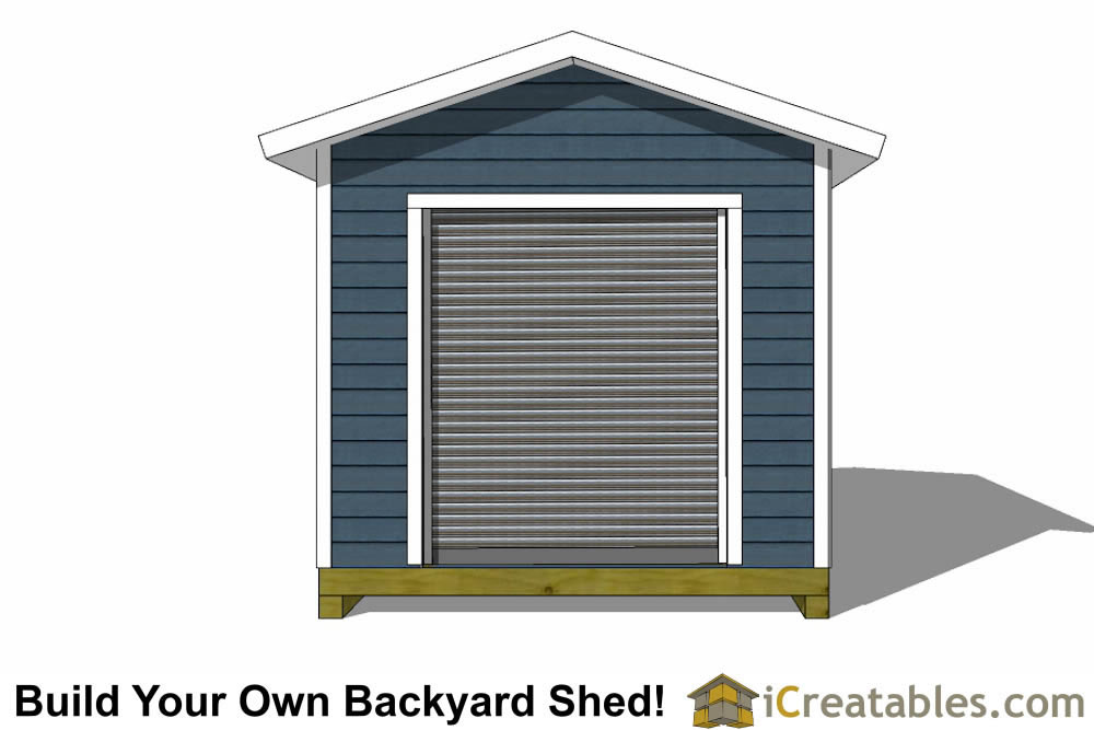 10x14 shed plans with garage door elevation
