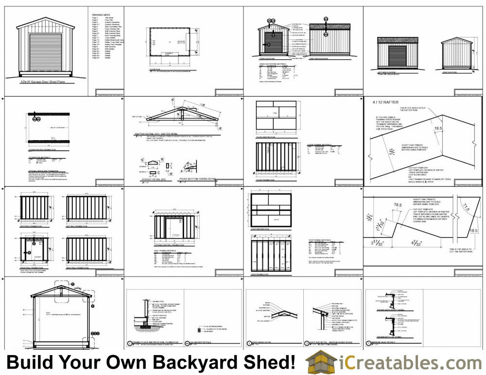 10x14 Shed With Garage Door Plans
