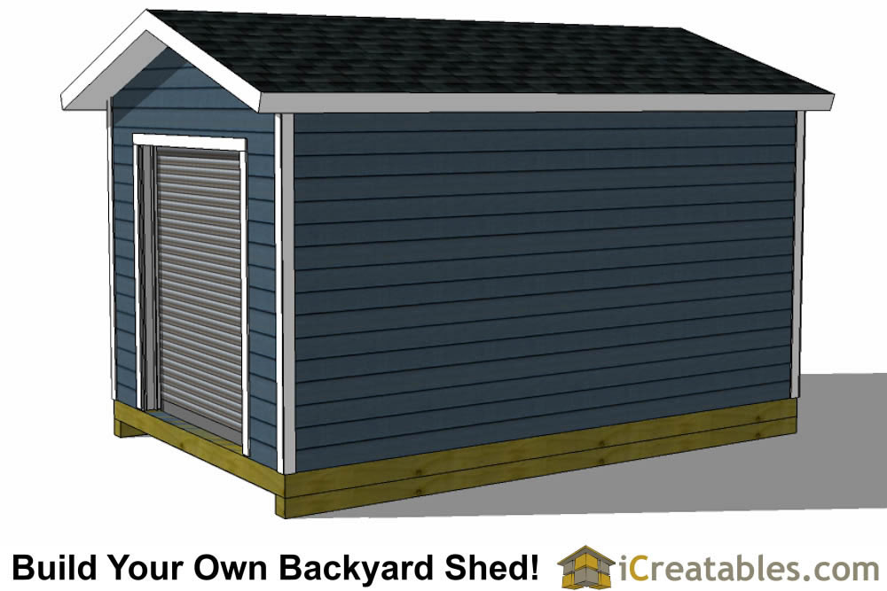 10x14 shed plans with garage door right side