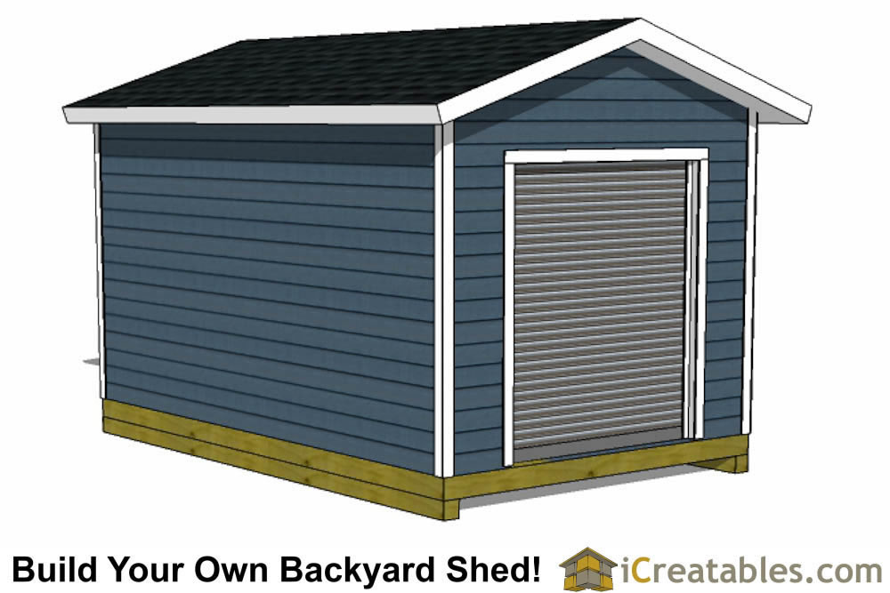 Garage shed plans buy diy detached garage designs today for Overhead door for shed