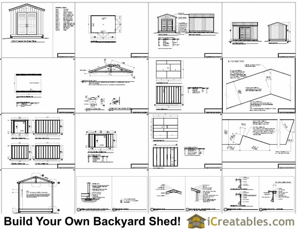 Gambrel Roof Shed Plans 10X14