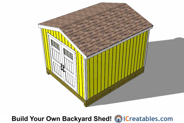 10x14 gable shed tall