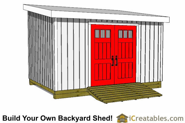 10x20 lean to shed front