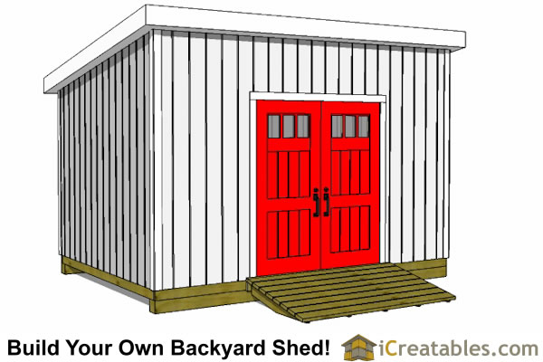 10x16 lean to shed plans door on high side