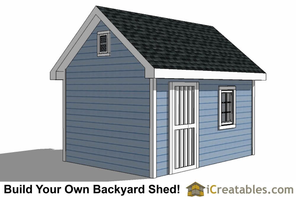 10x14 Traditional Victorian Garden Shed Plans