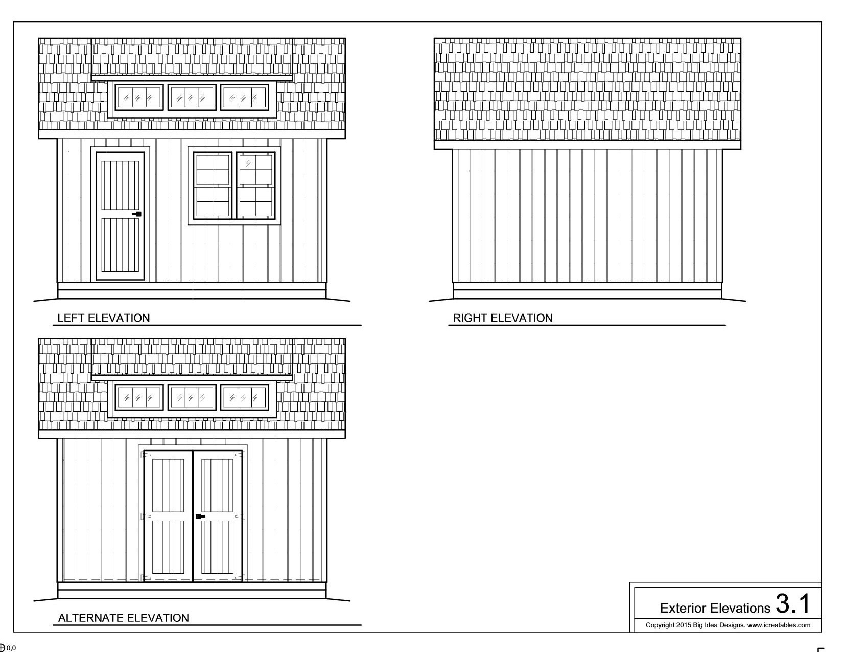 12x12- shed with dormer and loft plans
