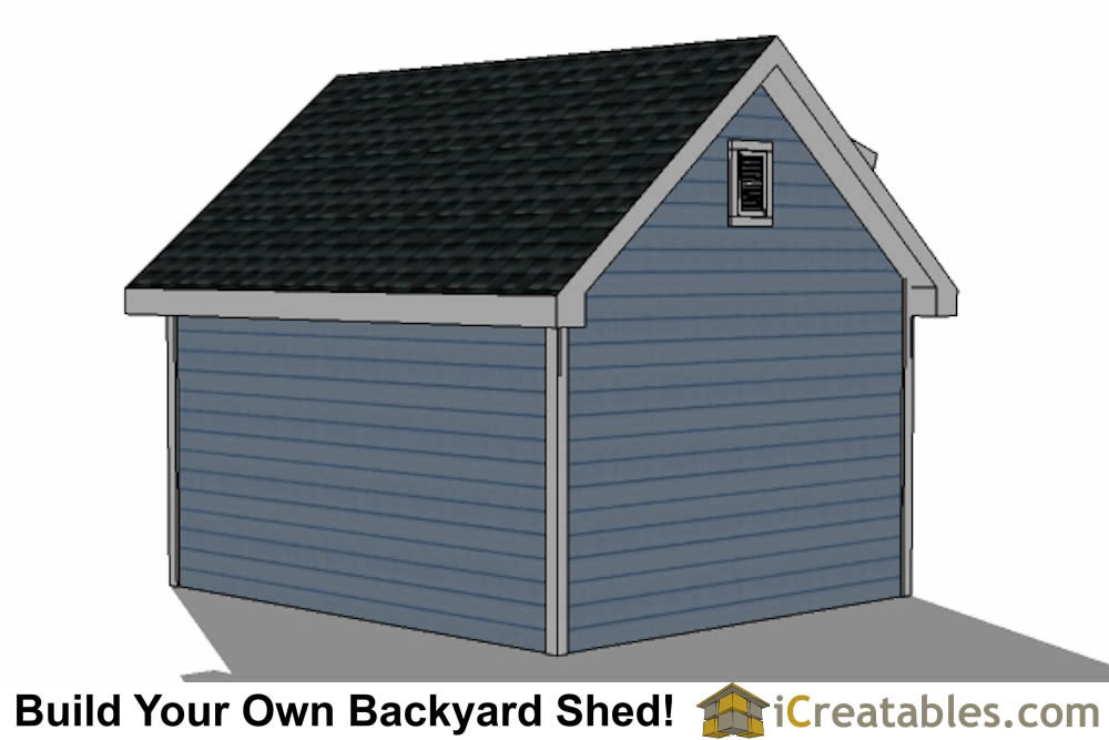 12x16 shed with dormer roof plans right rear