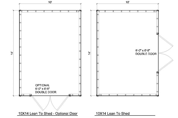 10x14 lean to shed plans for Shed floor plans
