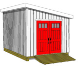 10x14 lean to shed plans door on angled