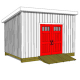 10x14 lean to shed plans door on high side