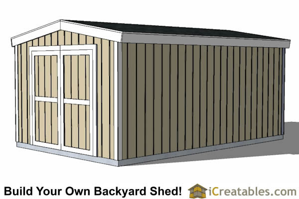 10x12 short shed plans right side