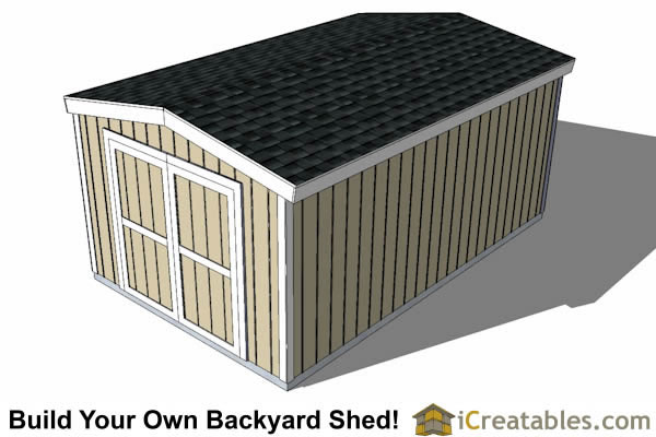 10x16 Short Shed Plans 8 Tall Storage Shed Plans