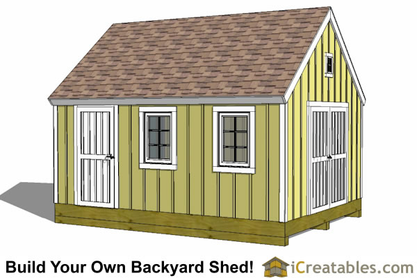 10x14 gable shed plans icreatables sheds for Gable barn plans
