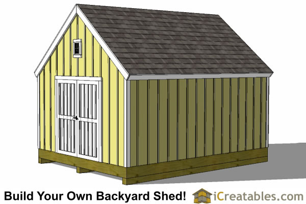 10x16 garden storage shed plan large doors