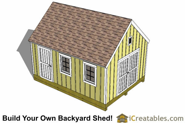10x16 garden storage shed plan top view roof
