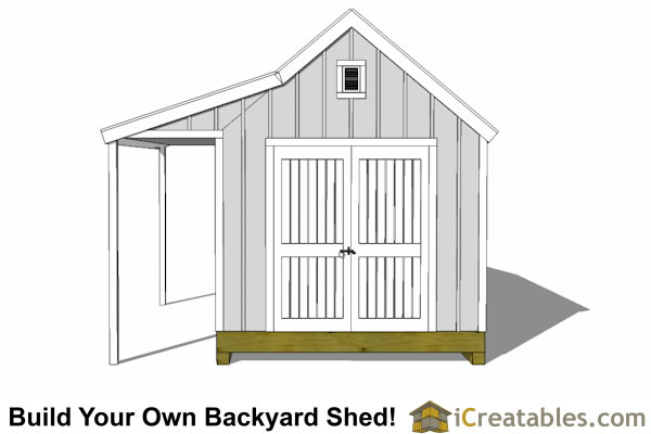 10x16 cape cod new england storage shed plan porch front