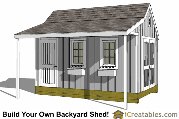 10x16 shed plans diy shed designs backyard lean to for Porch plans shed roof