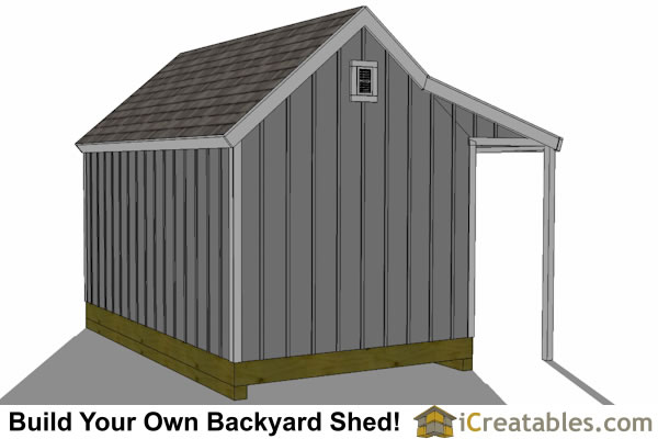 10x16 cape cod shed with porch shed plan porch rear
