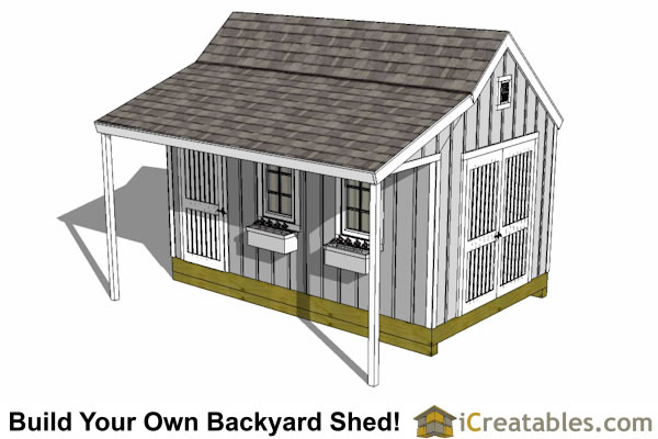 10x16 cape cod shed plans with porch for 10x10 shed floor plans