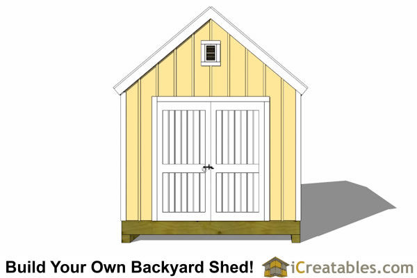 10x16 colonial shed plan front