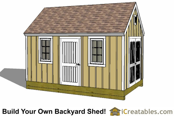 10x16 colonial shed large elevation