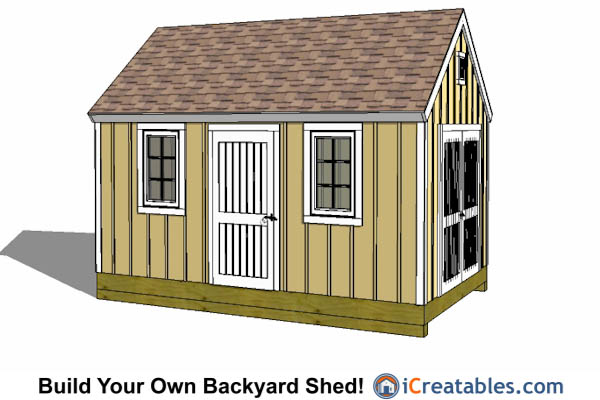 10x16 colonial shed