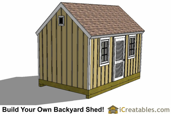 10x16 colonial shed plan left side
