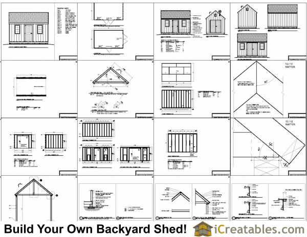 10x16 shed plans example