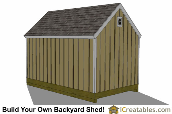 10x16 colonial shed plan left rear