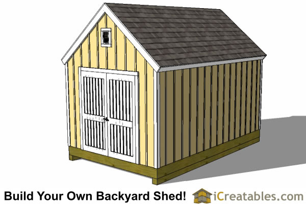10x16 colonial shed plan right rear