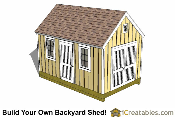 10x16 colonial shed plan top