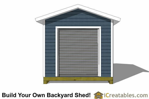 ... 10x16 Shed Plans With Garage Door Elevation ...