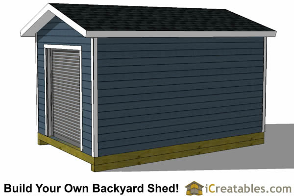 10x16 shed plans with garage door icreatables for 16 x 11 garage door
