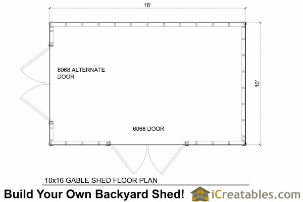 Get 10x16 shed plans melsandy for Gt issa floor plans