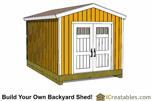 10x12 shed plans gable