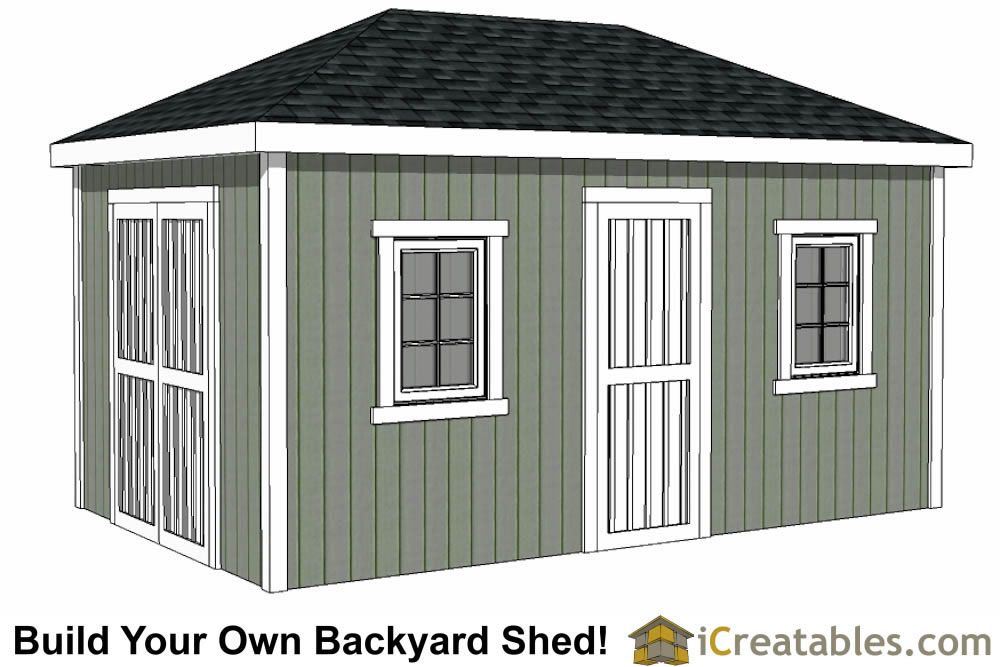 10x16 hip roof shed plans for Barn roof plans