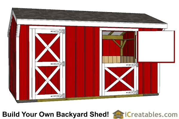 10x16 Small Horse Barn Plans One Stall Horse Barn Plans