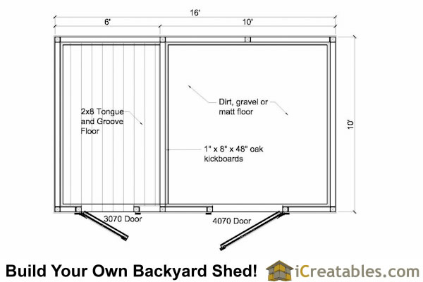 10x16 small horse barn plans one stall horse barn plans for Small horse barn plans