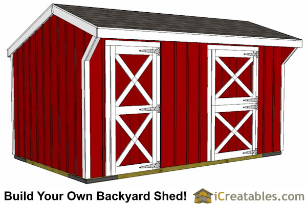 10x16 small horse barn front