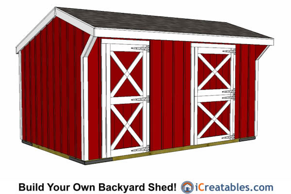 10x16 Horse Barn With Tack Room