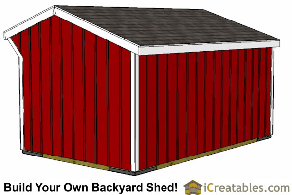 10x16 horse barn plans with tack room rear view