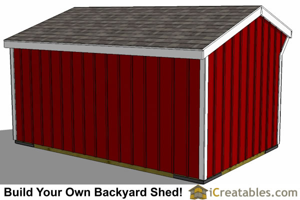 10x16 horse barn plans with tack room left rear