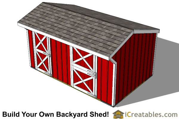 10x16 horse barn plans with tack room top view