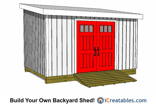 10x16 lean to shed