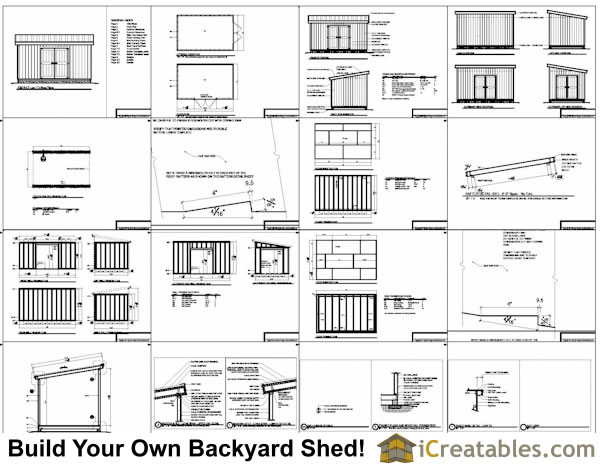 10x16 Lean To Storage Shed Plans I nclude The Following