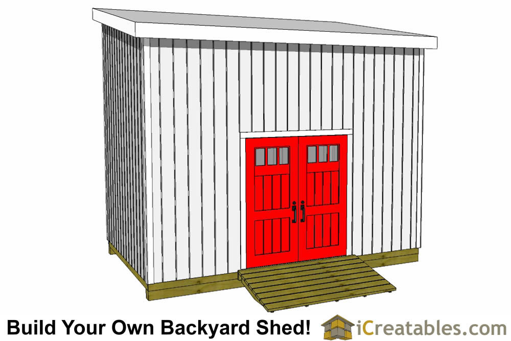 10x16 lean to shed front