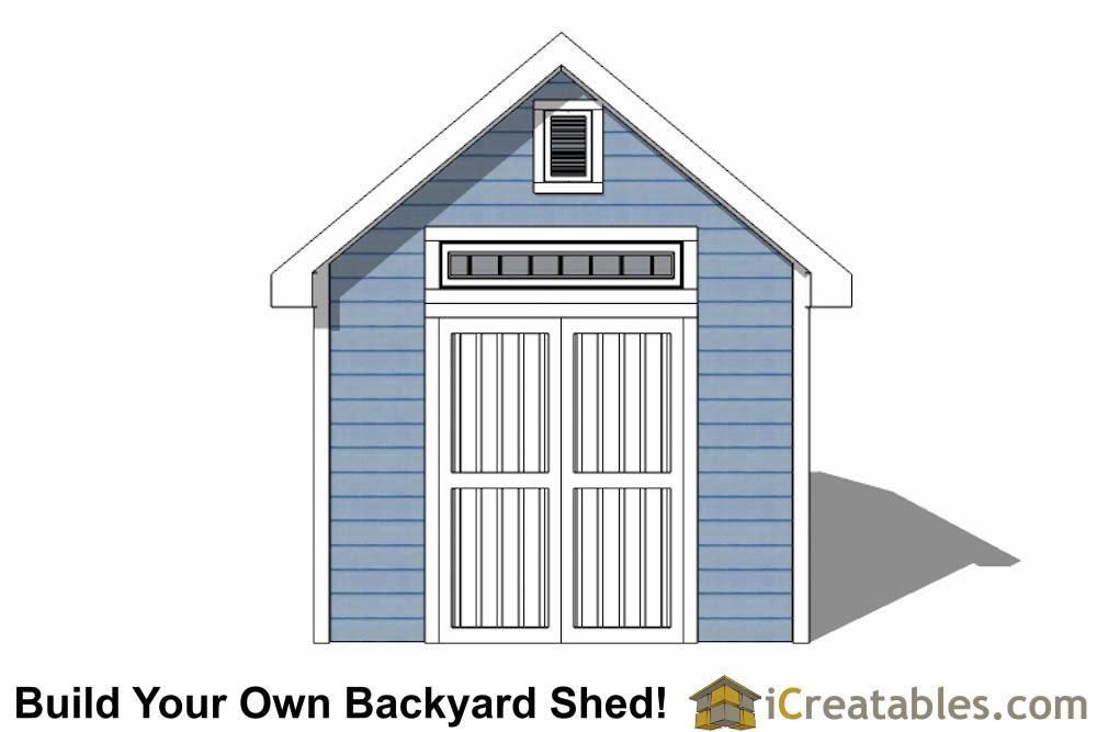 10x16 Traditional Victorian Style Storage Shed elevation