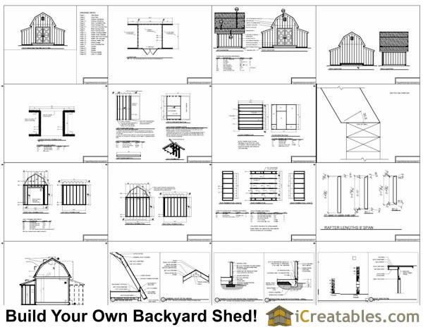 10x18 barn shed plans