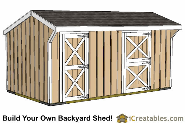 10x18 small horse barn front